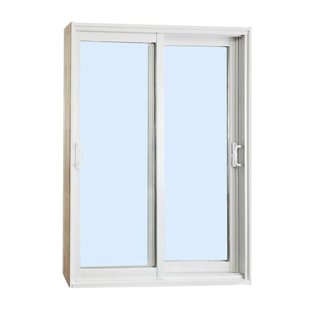 Stanley doors 72 in x 80 in double sliding patio door for Folding sliding doors home depot