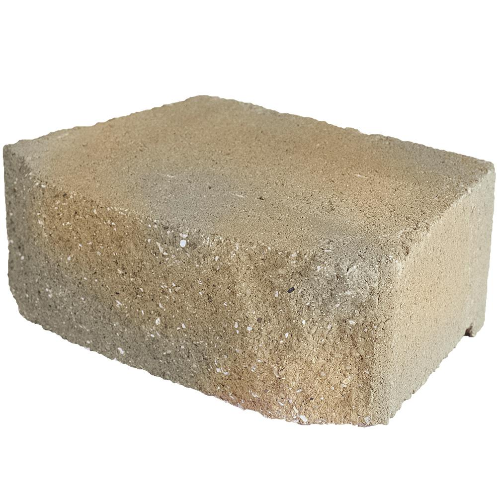 Pavestone 6.75 in. L x 11.63 in. W x 4 in. H Antique Buff Concrete Retaining Wall Block (144-Piece/46.6 sq. ft./Pallet)