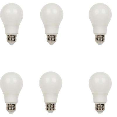 40W Equivalent Soft White Omni A19 Dimmable LED Light Bulb (6-Pack)