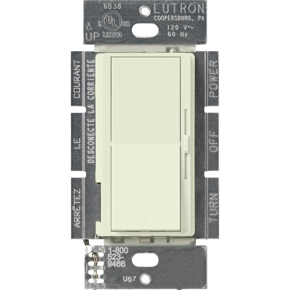Lutron Diva 1.5 Amp Single-Pole/3-Way 3-Speed Fan Control, Biscuit