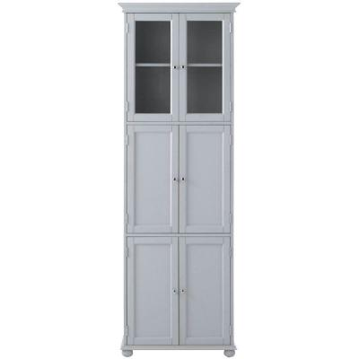 Hampton Harbor Tall Cabinet with 25 in. W in Gray Finish