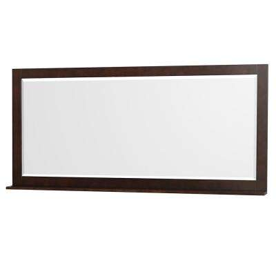 Centra 70 in. W x 33 in. H Framed Wall Mirror in Espresso