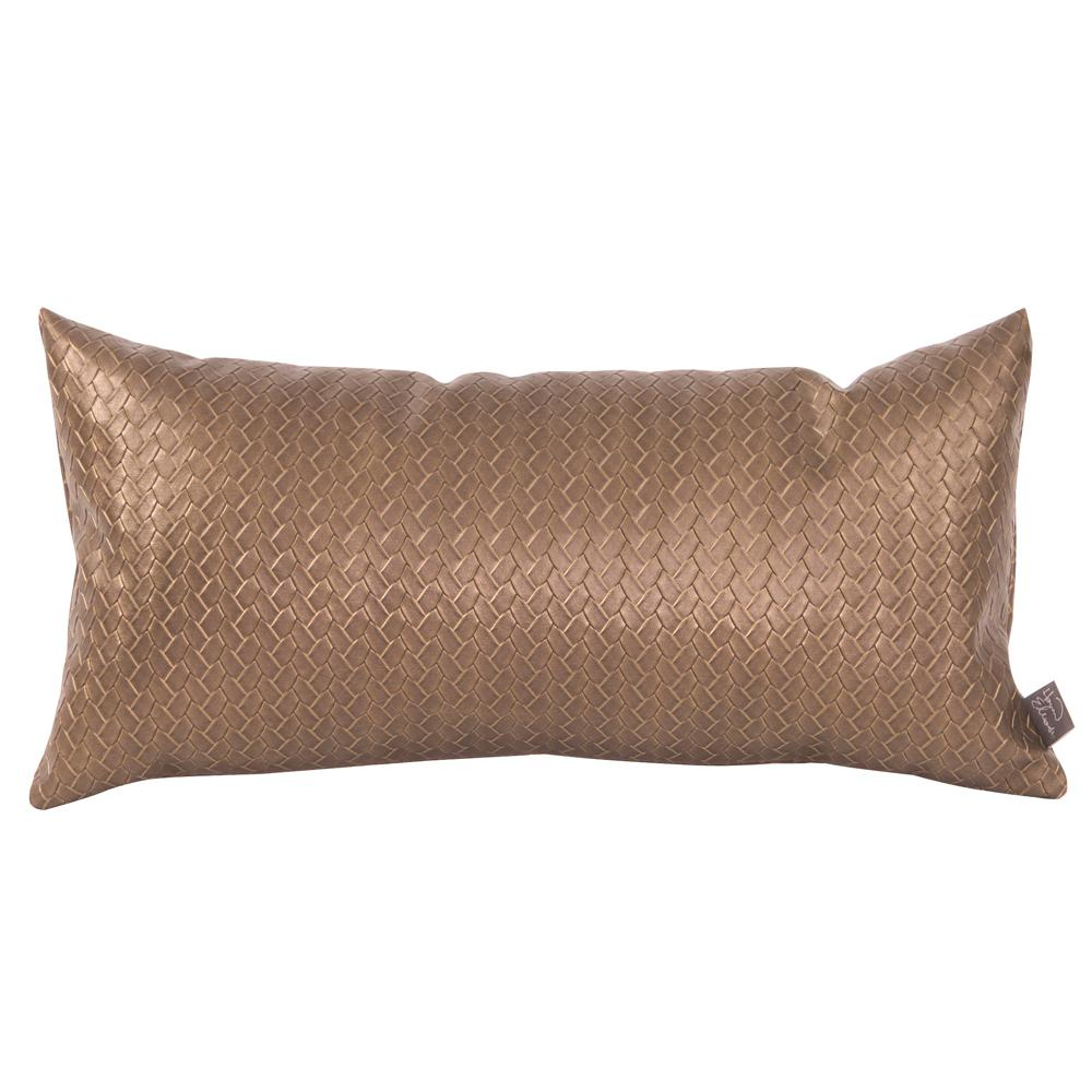 Kidney Brown Decorative Pillow Weave Bronze-18-18 - The Home Depot