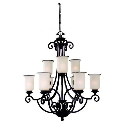 sea gull lighting acadia 9 light misted bronze chandelier price tracking