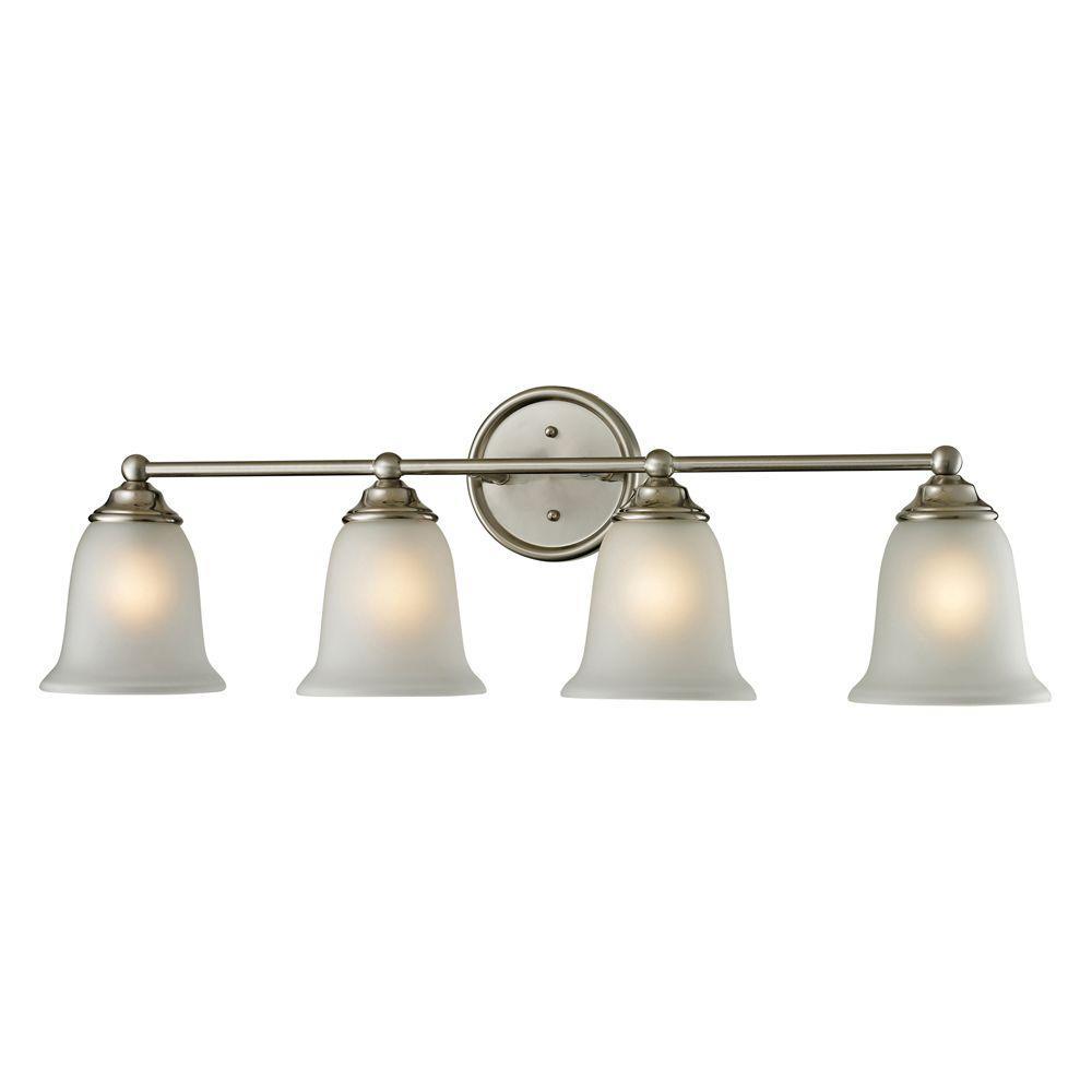 Sudbury 4-Light Brushed Nickel Wall Mount Bath Bar Light