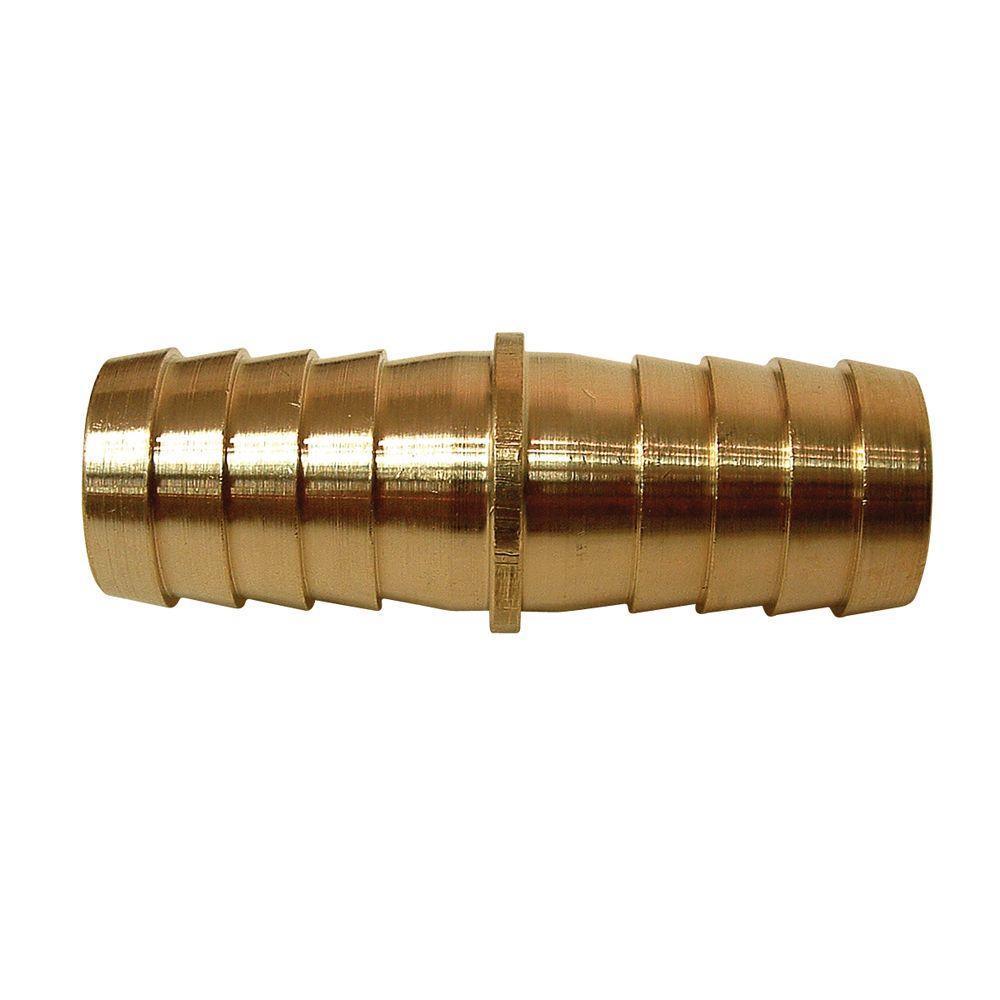 1/4 in. ID Lead-Free Brass Hose Barb Splicer