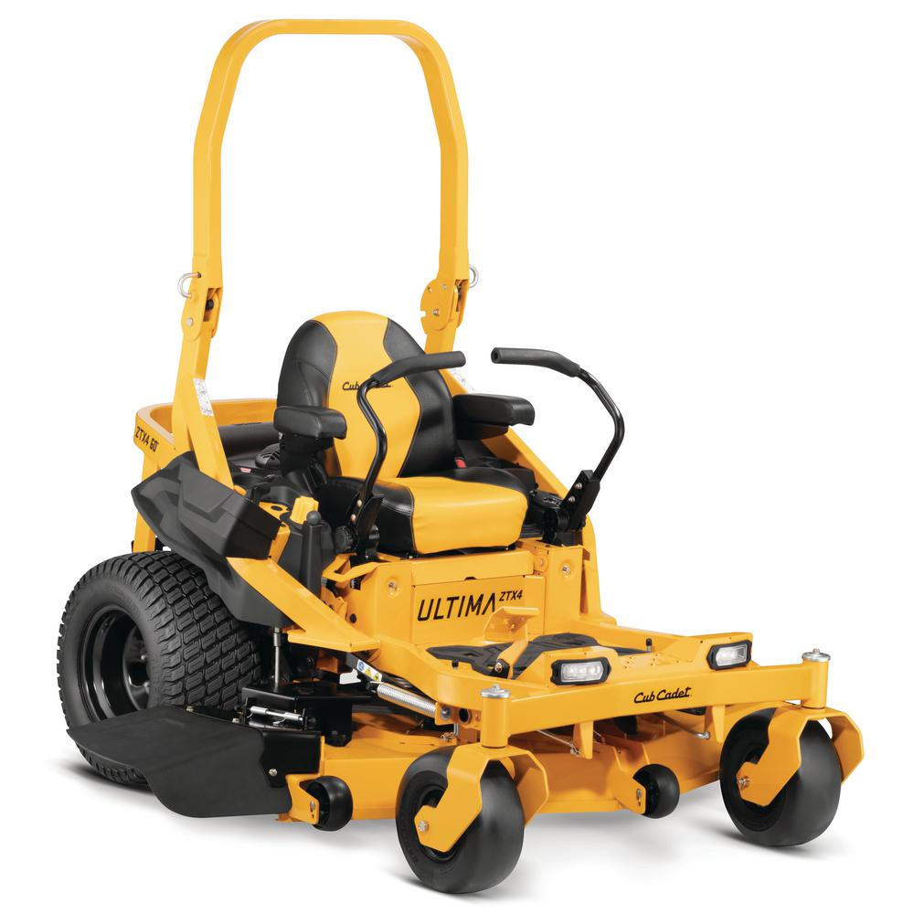 Cub Cadet Ultima ZTX4 60 in. Fabricated Deck 24 HP Kohler Pro 7000 Series V-Twin Engine Zero Turn Mower with Roll Over Protection