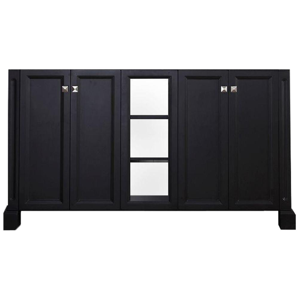 Westwood 60 In Double Sink Base Cabinet Black