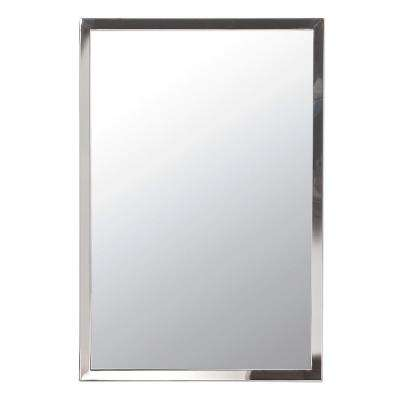Urban Steel 30 in. x 36 in. Polished Chrome Wall Mount Bathroom Mirror with 1 in. W Frame