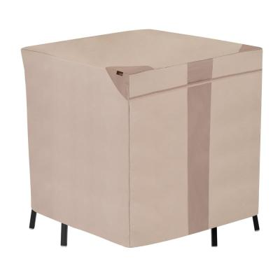 Monterey Water Resistant Square Outdoor Bar Height Patio Table and Chair Cover, 64 in. D x 66 in. W x 34 in. H, Beige