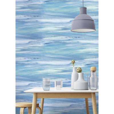 Sirius Brushstroke Abstract Peel and Stick Wallpaper 30.75 sq. ft.