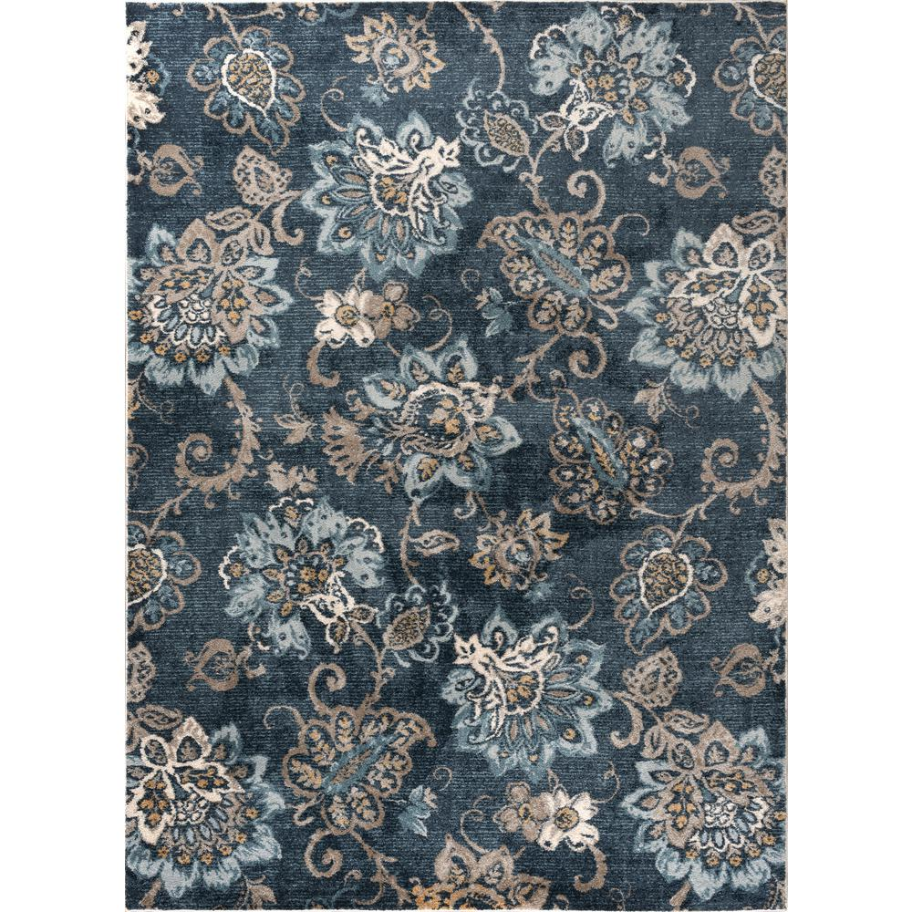 Navy Paisley Rug: Tayse Rugs Winslow Navy 7 Ft. 10 In. X 10 Ft. 3 In. Area