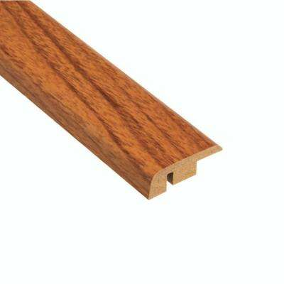 High Gloss Alexander Oak 12.7 mm Thick x 1-1/4 in. Wide x 94 in. Length Laminate Carpet Reducer Molding
