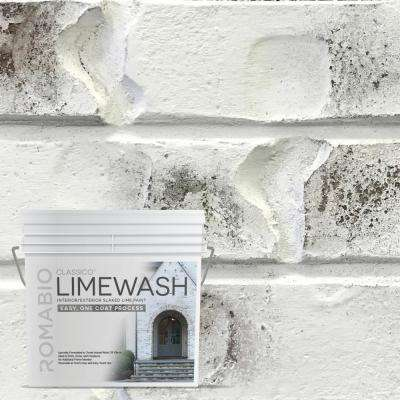 0.67 Gal. Bianco White Limewash Interior/Exterior Paint