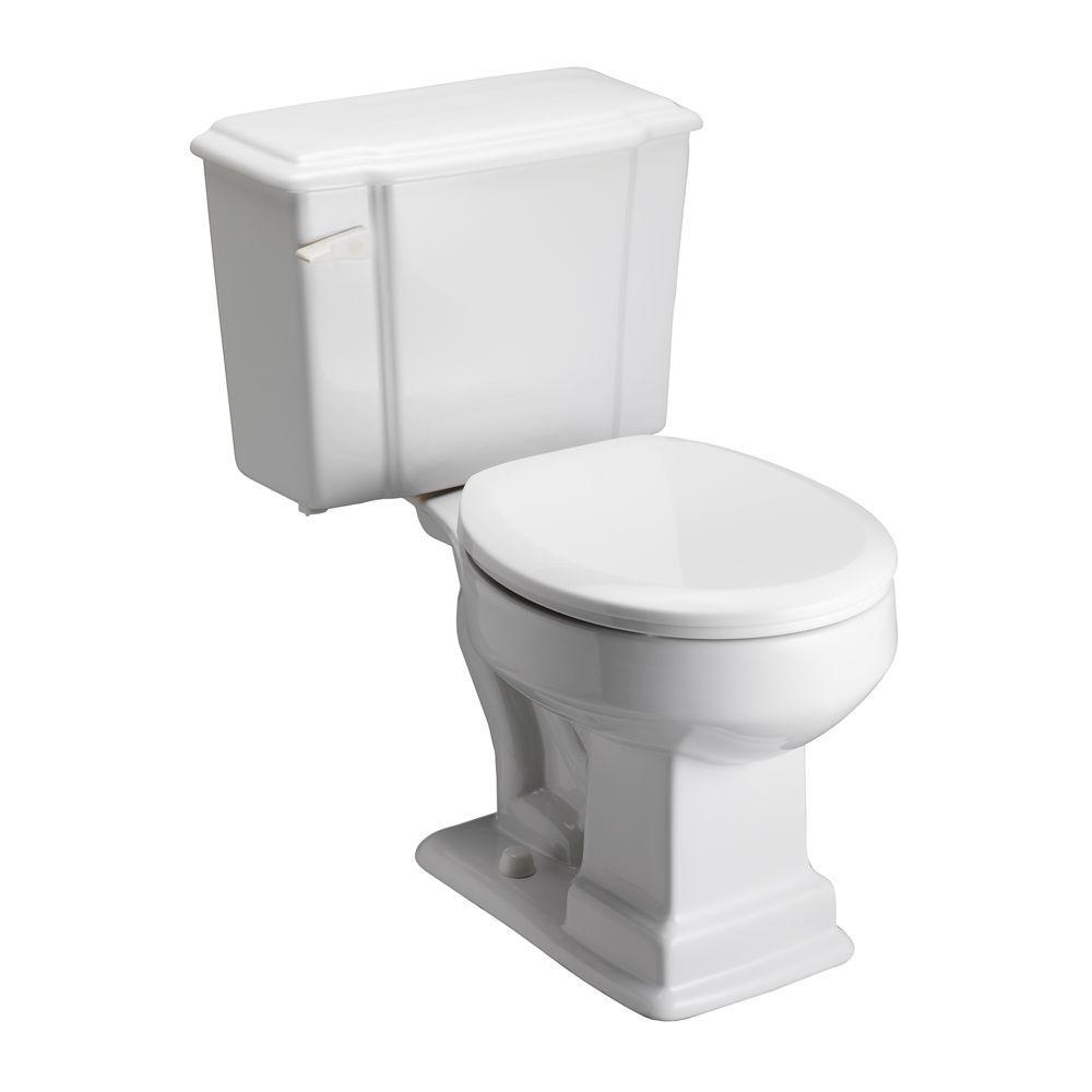 Pegasus Constitution 2-Piece 1.6 GPF Round Toilet in White-DISCONTINUED