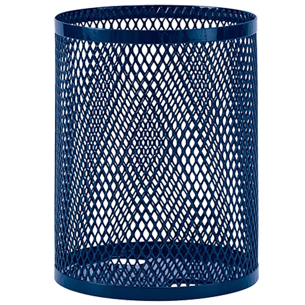 Portable 32 Gal. Blue Diamond Commercial Trash Can