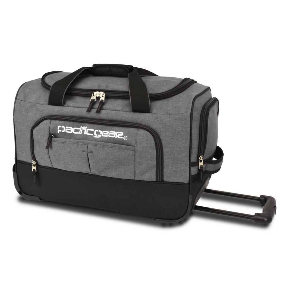 Keystone 21 in. Rolling Grey Duffel Bag