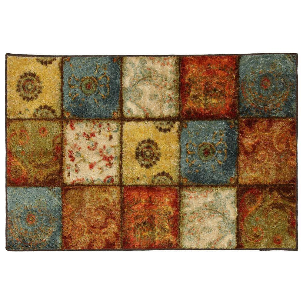 Mohawk Home Artifact Panel Multi 1 Ft. 8 In. X 2 Ft. 10 In. Accent Rug 333256    The Home Depot