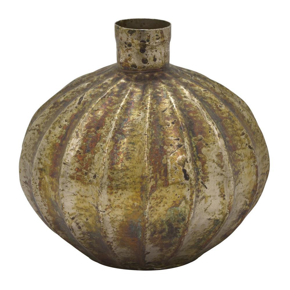 8 in. Bronze Metal Vase