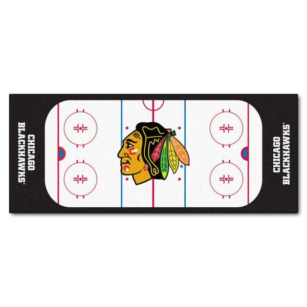 Chicago Blackhawks 3 ft. x 6 ft. Rink Rug Runner Rug