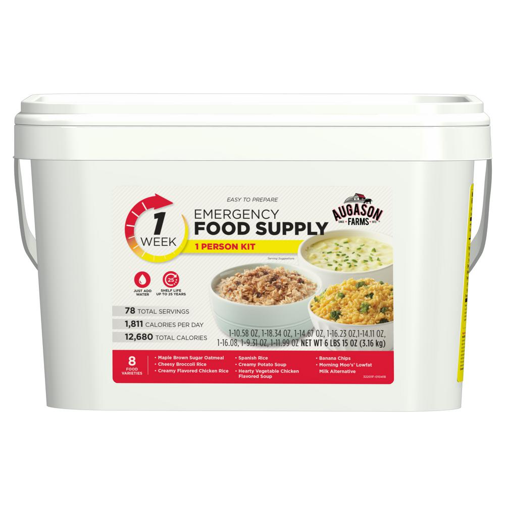 2 Gal. Pail 1-Week 1-Person Emergency Food Supply Evacuation Pail 8