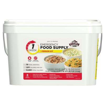 2 Gal. Pail 1-Week 1-Person Emergency Food Supply Evacuation Pail 8 Varieties 25-Year Shelf Life