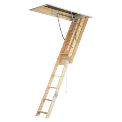8 ft. - 10 ft., 22.5 in. x 54 in. Universal Fit Wood Attic Ladder with 250 lb. Maximum Load Capacity