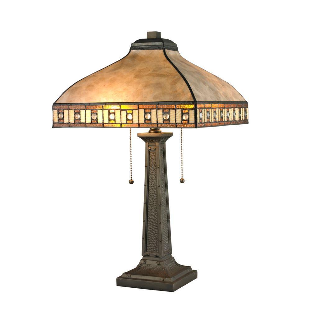 Normande Lighting 24 In Reddish Bronze Vintage Table Lamp