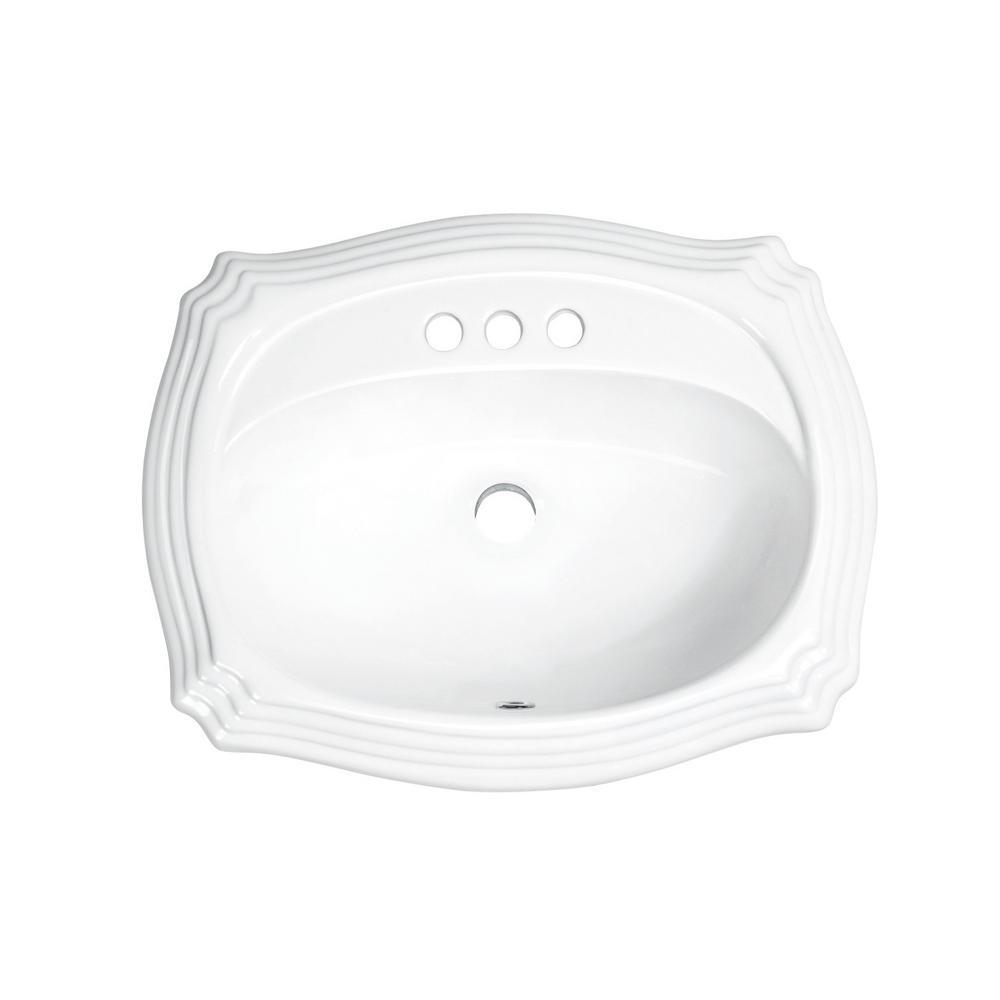 Ipt Sink Company 18 25 In Drop In Top Mount Oval Ceramic