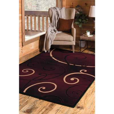 Burgundy Area Rugs Rugs The Home Depot