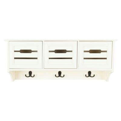Leon White Coat Rack with Storage