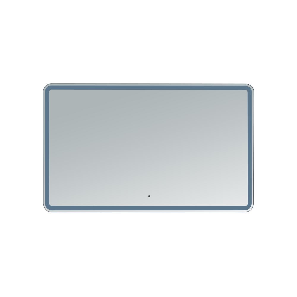 Hermes 50 in. W x 35 in. H Frameless Rectangular LED Light Bathroom Vanity Mirror