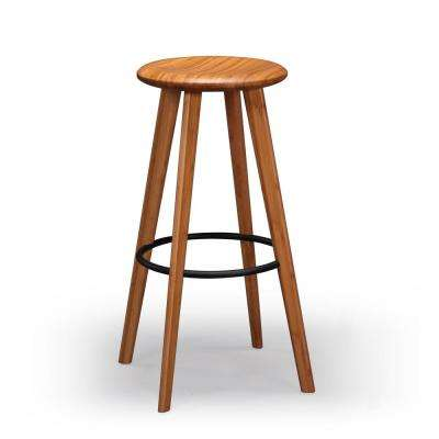 Mimosa 30 in. Caramelized 100% Solid Classic Bamboo Bar Stool (Set of 2)