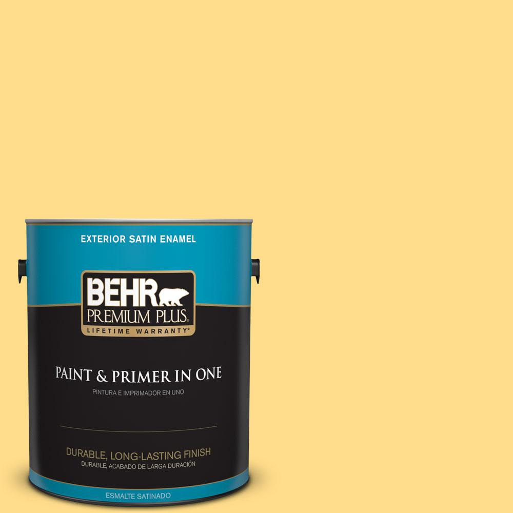 1-gal. #330B-5 Yellow Corn Satin Enamel Exterior Paint