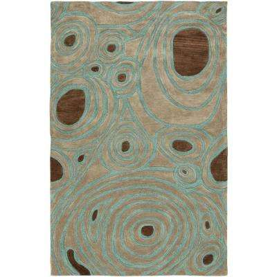 Fashion Natural 5 ft. x 7 ft. 9 in. Plush Indoor Area Rug