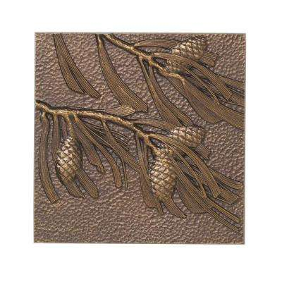 8 in. Pinecone Aluminum Wall Decor