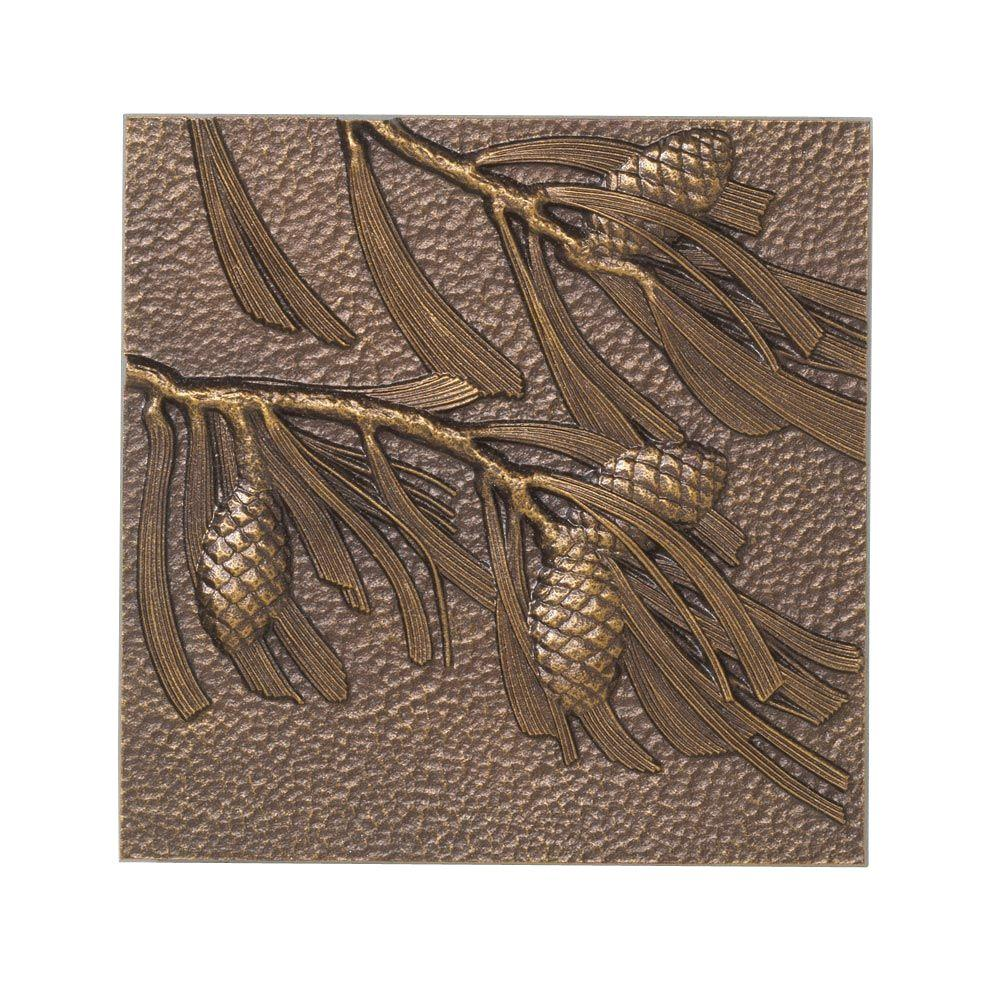 Whitehall Products 8 in. Pinecone Aluminum Wall Decor