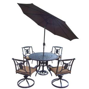 Oakland Living Cast Aluminum 7-Piece Round Patio Dining Set with Sunbrella Cushions and... by Oakland Living