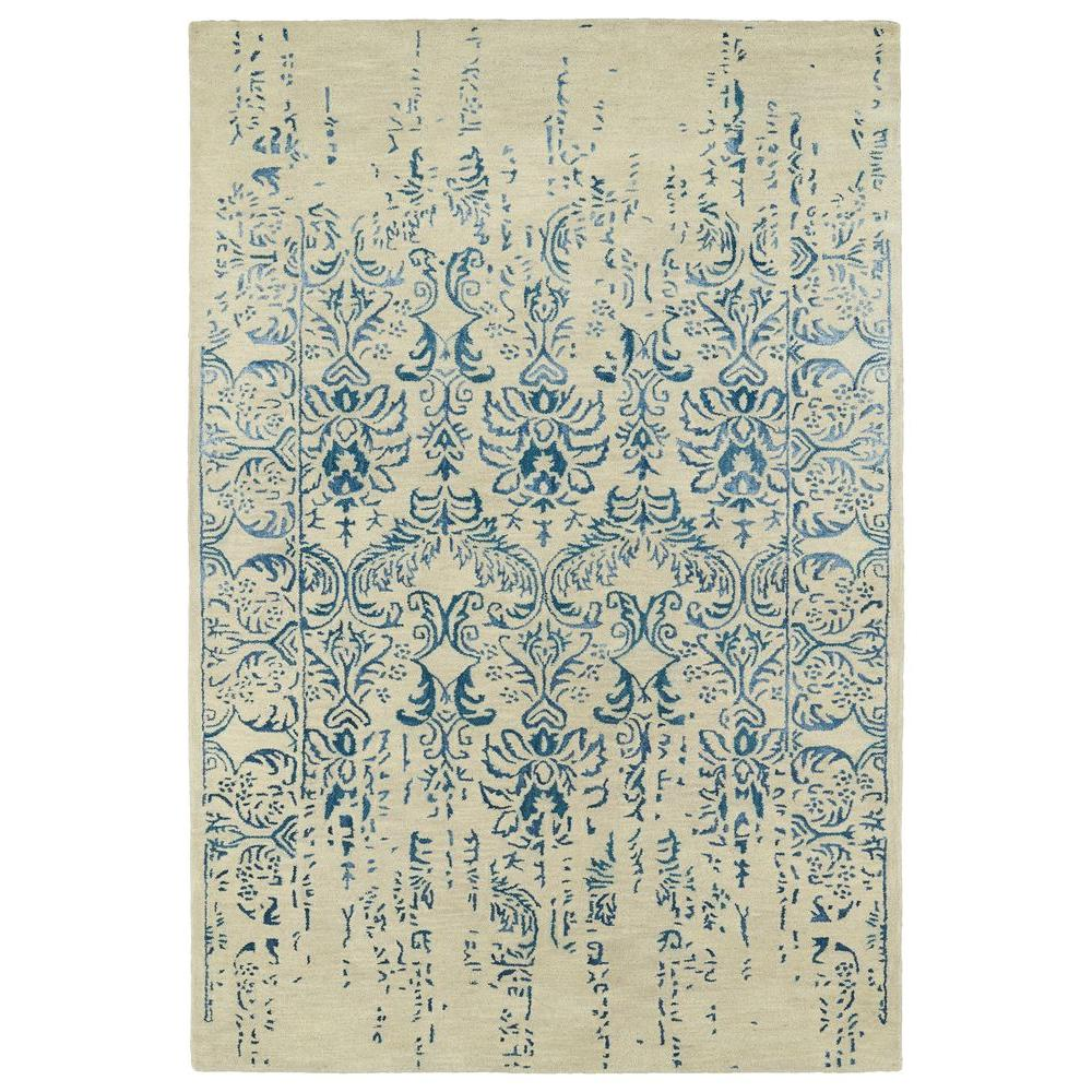 Mercery Blue 9 ft. 6 in. x 13 ft. Area Rug