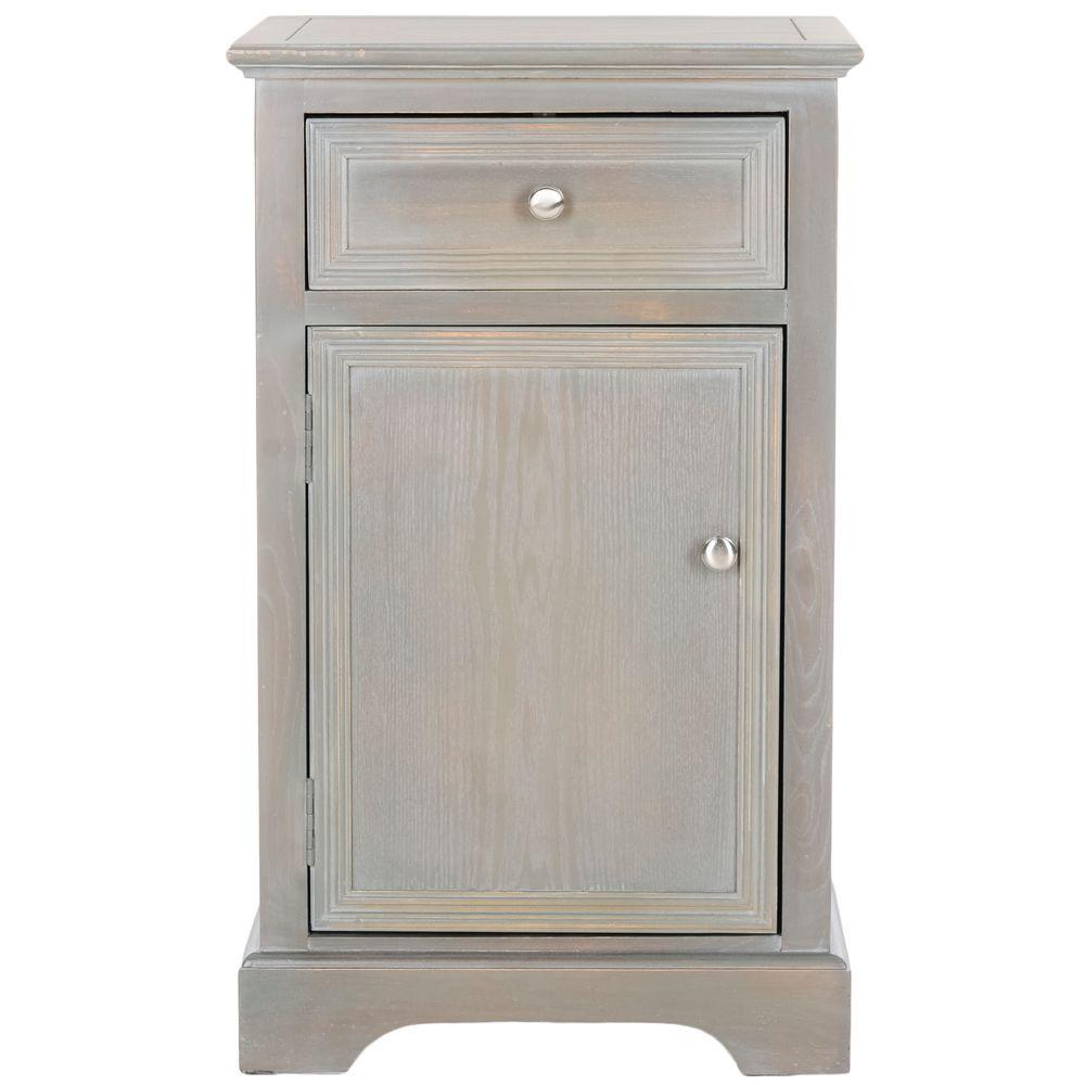 Jarome French Grey Storage End Table