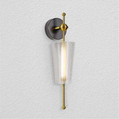 Toscana 4.75 in. Antique Brass LED Sconce