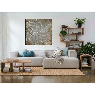 39.37 in. x 39.37 in. Cosmic Hand Painted Aluminum Wood Wall Art Decor