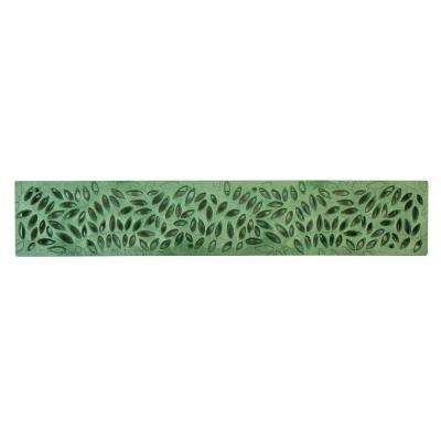 Spee-D Channel 24 in. Plastic Botanical Design Grate in Green