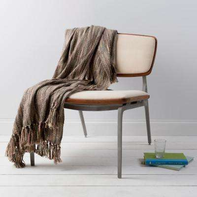 Hollyn Mauve Acrylic Throw