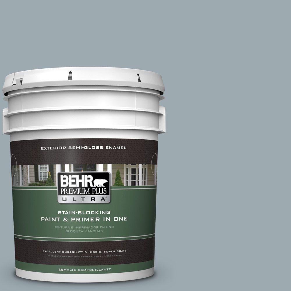 5-gal. #ECC-30-1 Pelican Bay Semi-Gloss Enamel Exterior Paint