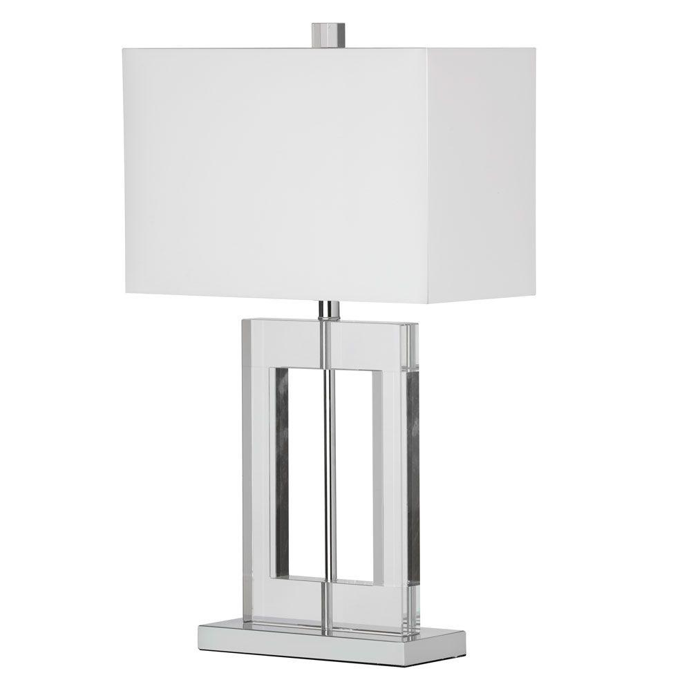 Radionic Hi Tech Briston 1-Light 25.5 in. Polished Chrome Table Lamp