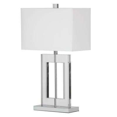 Briston 1-Light 25.5 in. Polished Chrome Table Lamp