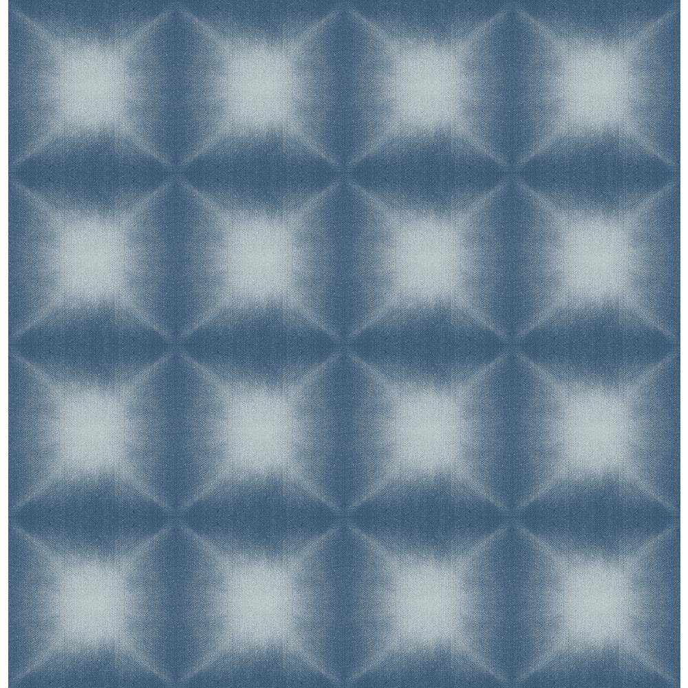 Kenneth James Echo Blue Geometric Wallpaper