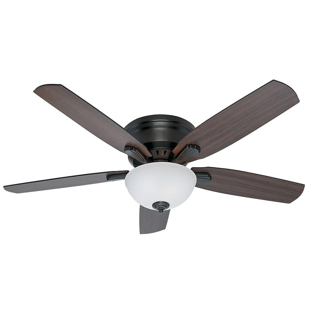 Princeton 52 in. Indoor Low Profile Noble Bronze Indoor Ceiling Fan