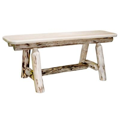 Montana Clear Lacquered 48 in. Plank Bench